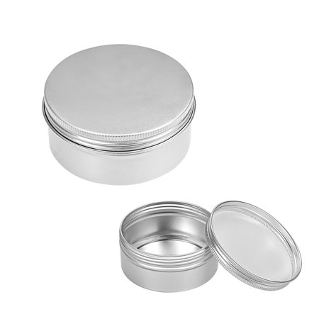 5oz Round Aluminum Cans Tin Can Screw Top Metal Lid Containers 150ml, (Glass Jars With Metal Screw Top Lids)