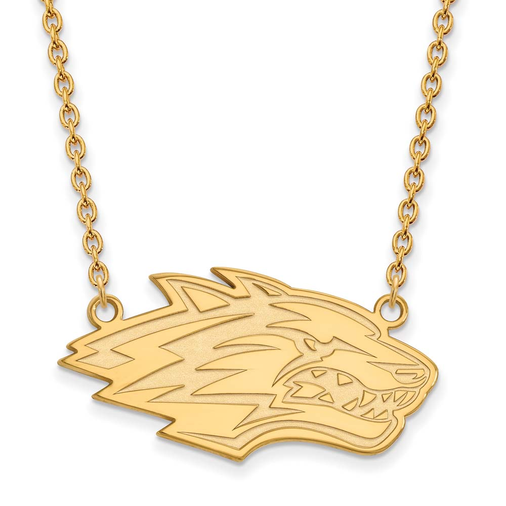 New Mexico Large (3/4 Inch) Pendant w/Necklace (10k Yellow Gold)