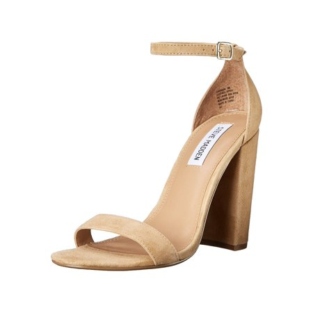 Steve Madden Womens Carrson Suede Open Toe Special Occasion Ankle Strap