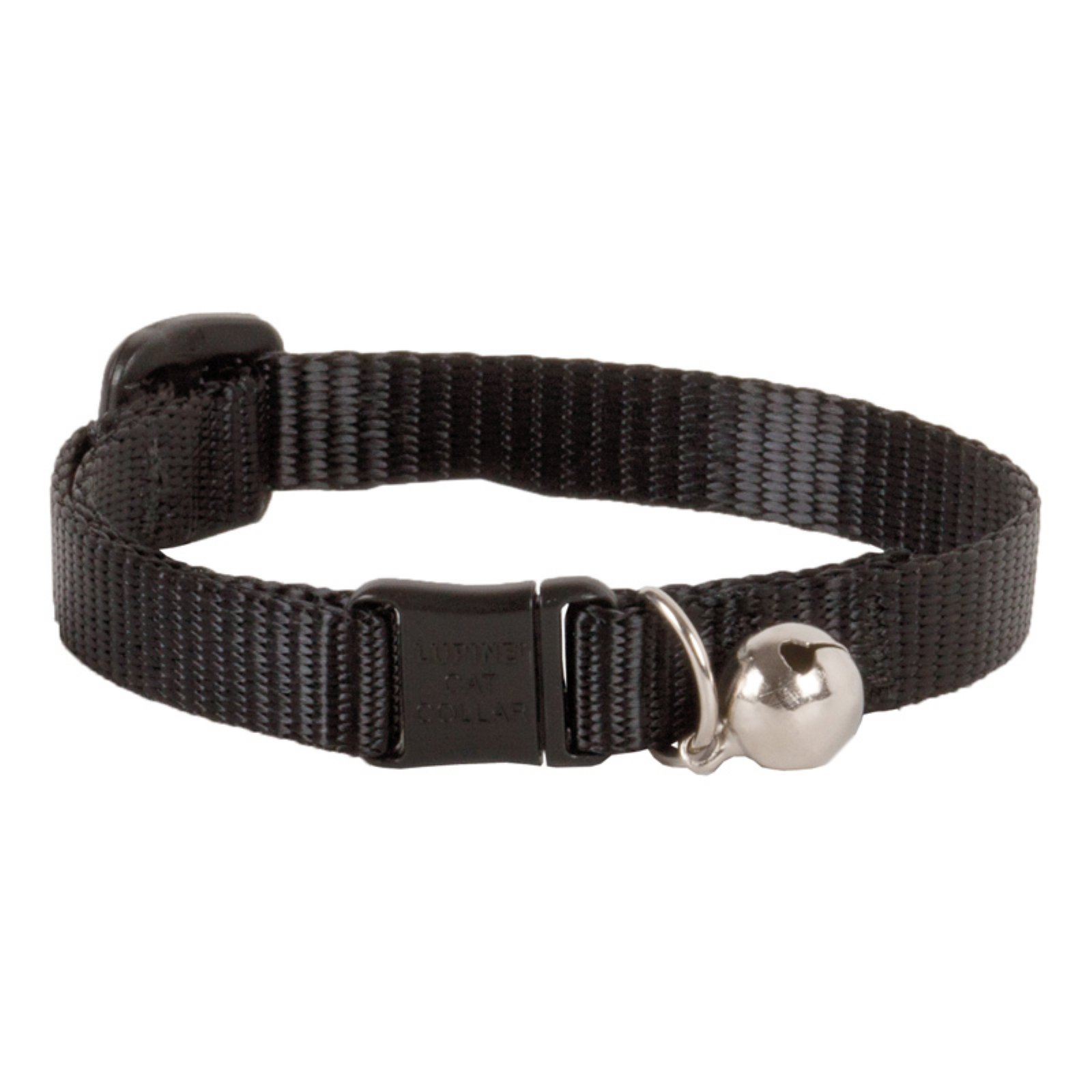 "Lupine Collars and Leads 27527 1 2"" x 8""-12"" Adjustable Black Safety Cat Collar with Bell by Generic"