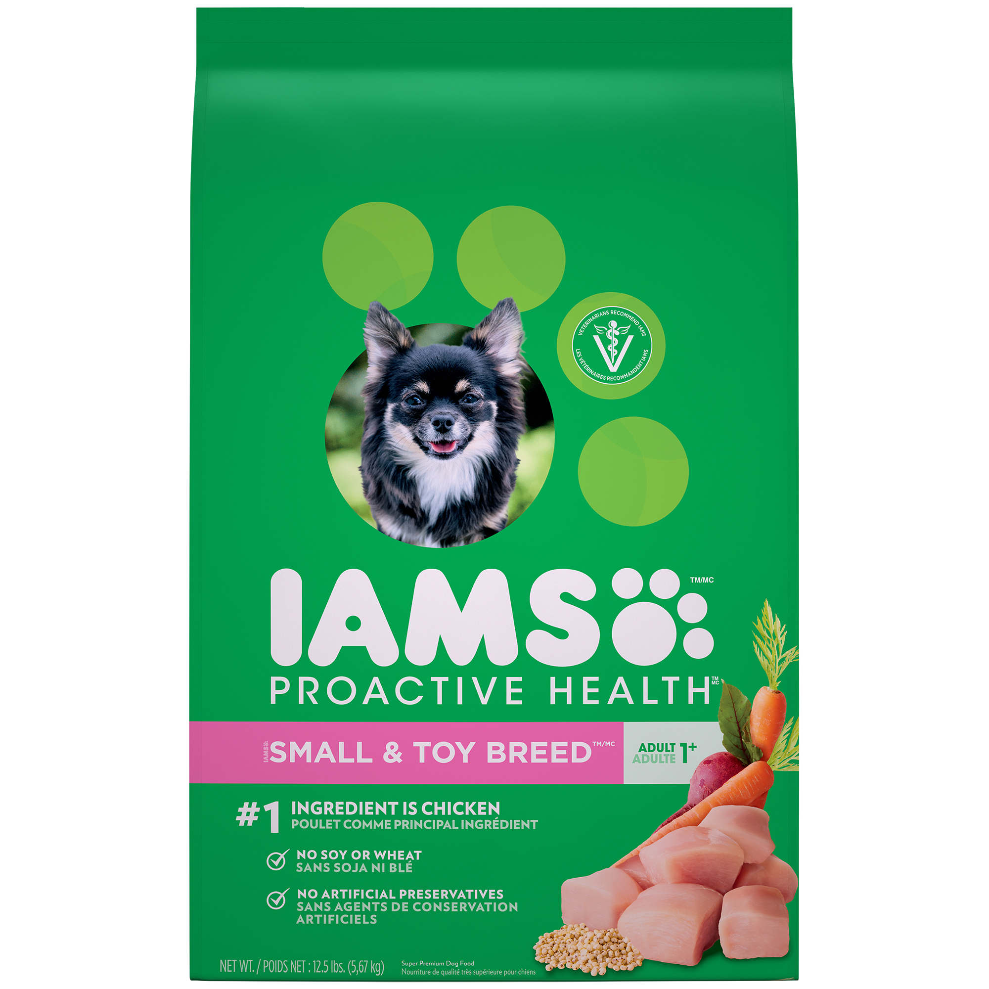 Iams Proactive Health Small And Toy Breed Adult Dry Dog Food, 12.5 Lb