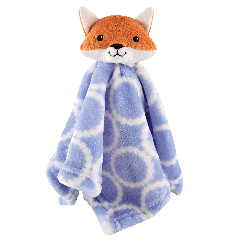 Animal Friend Plushy Security Blanket, Blue Fox, Soft Snuggly Fabric By Hudson Baby