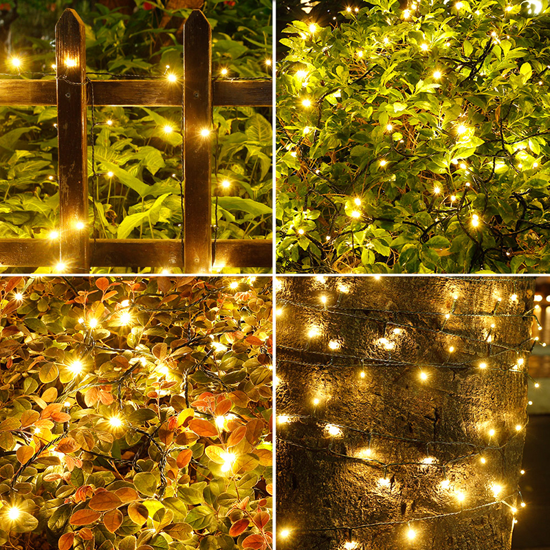 (2-Packs)Solar Outdoor Lights 72ft 200 LED Halloween Fairy String Lights for Gardens,Homes,Wedding,Party,Waterproof(Warm White) - image 3 of 15