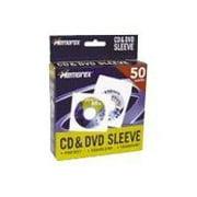 Memorex - CD sleeve - capacity: 1 CD - white (pack of 50)