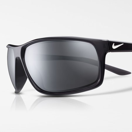Nike Adrenaline Anthracite/White & Gray with Silver Mirror Sunglasses - EV1112-061