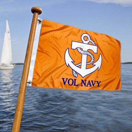 Tennessee Vol Navy Boat and Mini Flag