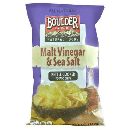(2 Pack) Boulder Canyon Potato Chips, Vinegar & Sea Salt, 5 oz - Potato Sacks For Sale