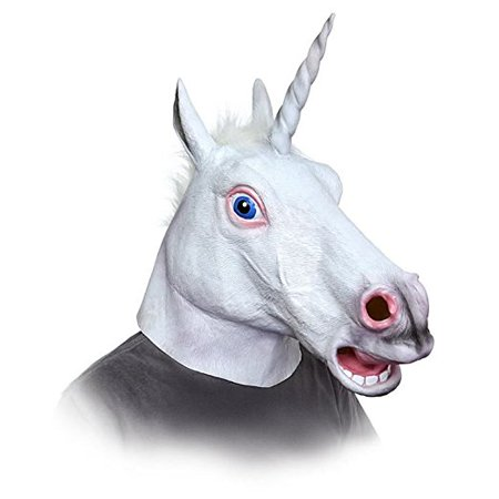 Halloween Animal Mask Unicorn Horse Head Cosplay Costume Party Latex Rubber Prop - Celebrity Rubber Masks
