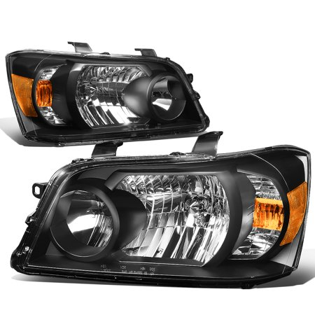 For 2004 to 2006 toyota Highlander Projector Headlight Black Housing Amber Corner Headlamp 05 Left+Right