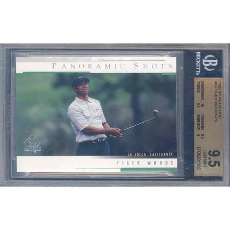 2005 Sp Authentic Jersey (2005 sp authentic #36 TIGER WOODS PS golf BGS 10)