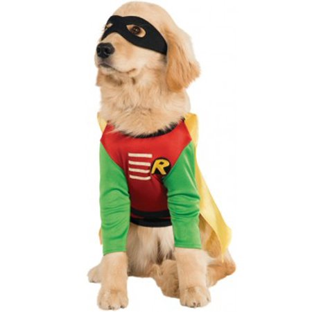 Robin Costume For Pets - Batman And Robin Halloween Costumes For Adults