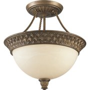 Progress Lighting P3541 Savannah 2 Light Semi Flush Mount Ceiling Fixture with A