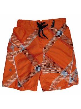 Boys Orange Cargo Swim Trunks Board Shorts 4