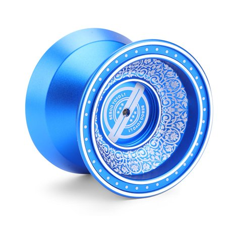 Tbest Kids Child Professional Blue Yoyo Aluminium Alloy Classic Toy Trick Gift with 3 Strings 1 Glove, Kids Yoyo, Child Yoyo (Yoyo String One)