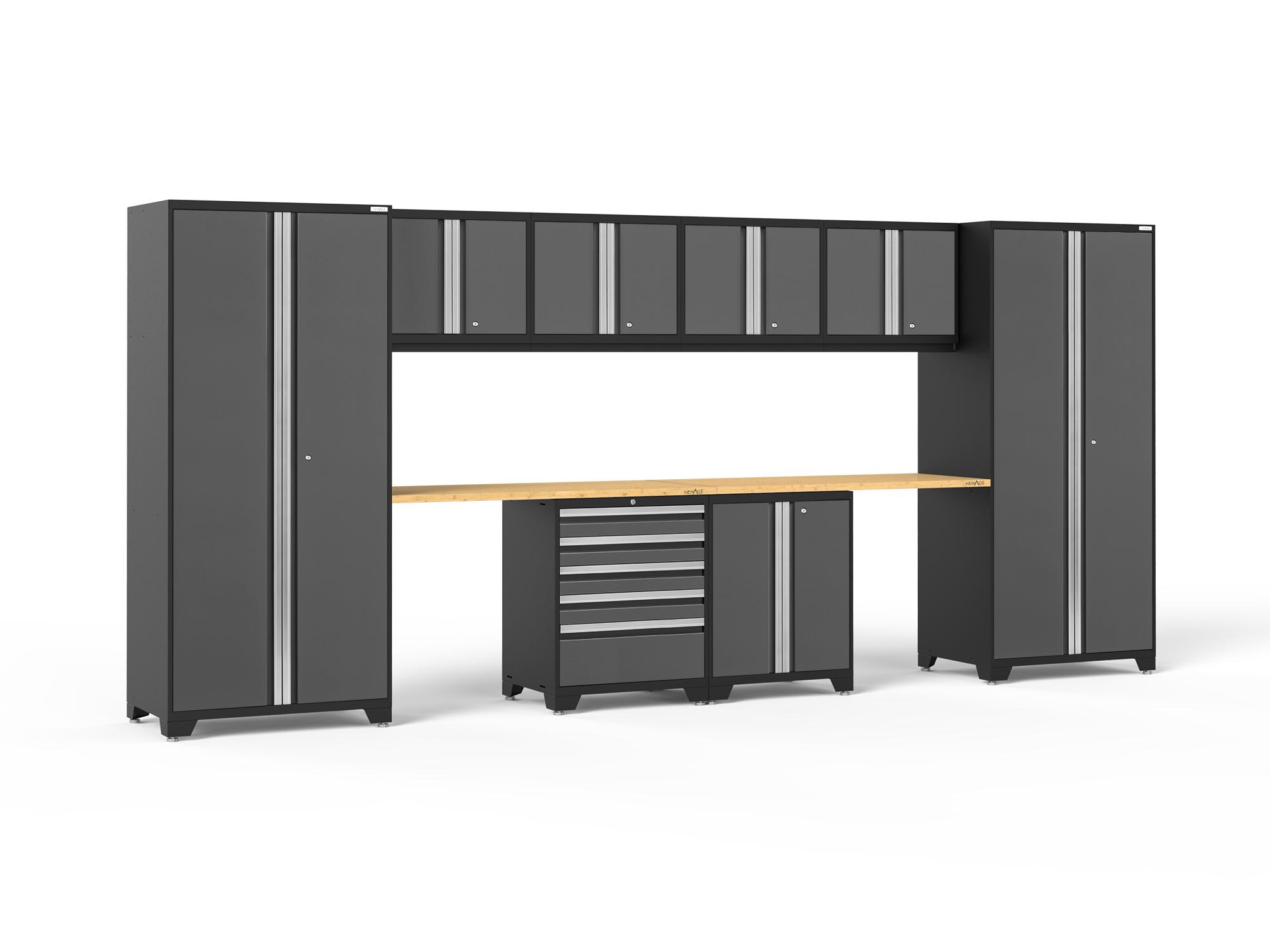 Newage Products Pro 3 0 Series Platinum 10 Piece Cabinet Set Walmart Com Walmart Com