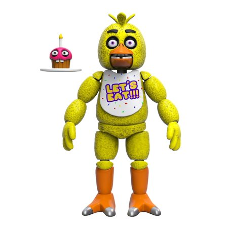 Five Nights At Freddys Articulated Chica Action Figure  5 Inch  Action Chica Set 088491 Freddy Foxy Free Fnaf 11845 11844 Funko 11847 5Inch 11846 Jackochica    By Funko