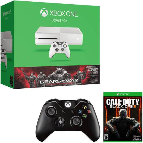 Xbox One Exclusive White Console 500GB Gears of War Bundle w/Bonus Wireless Controller and Bonus Game