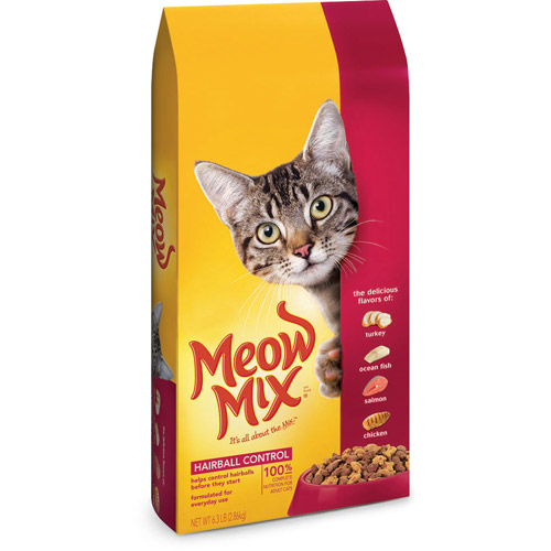 Meow Mix Hairball Control Dry Cat Food, 6.3-Pound