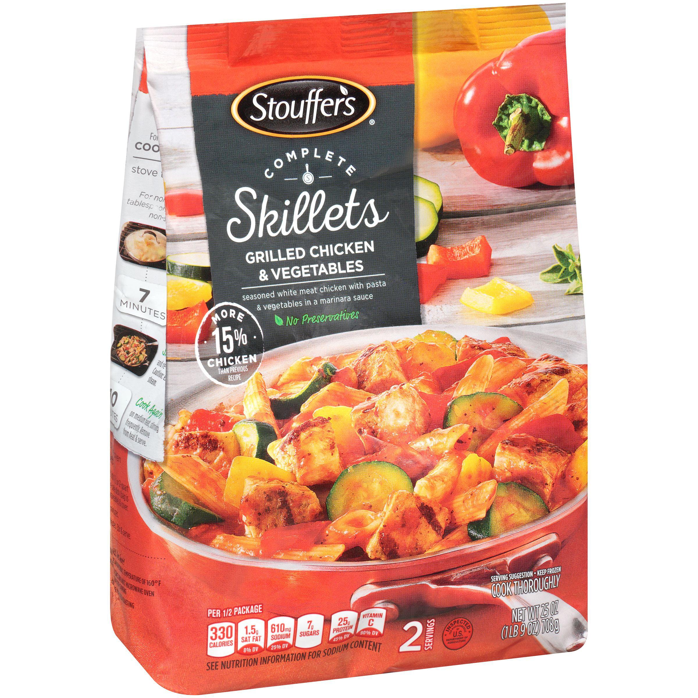 Stouffer's Complete Skillets Grilled Chicken & Vegetables, 25.0 OZ