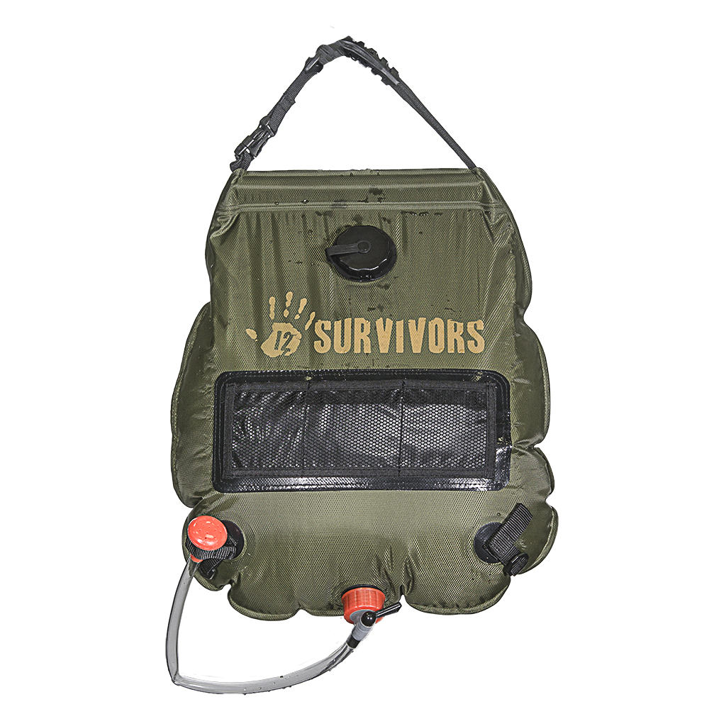 12 Survivors - TS79000 Solar Shower, 5 gallon