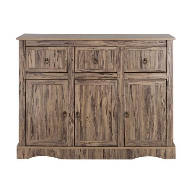 Simplicity Storage Cabinet with 3 Doors & 3 Drawers
