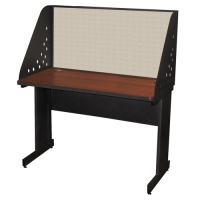 Pronto School Training Table with Carrel and Modesty Panel Back MVLPRCM0026DT...