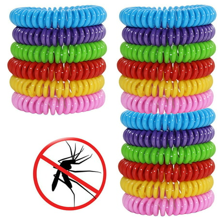 Insect Repellent Wristband (18 PackAnti Mosquito Bracelet Natural Mosquito Insect Repellent Bracelets Outdoor Indoor Bug Pest Control Wristbands for Babies Toddler Kids (Yellow Blue Pink Red Green Purple) )