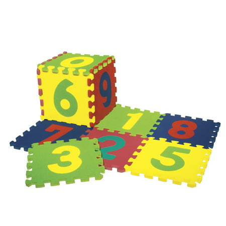 Creativity Street® Wonderfoam® Numbers Puzzle Mat, 10 squares, 20 pieces