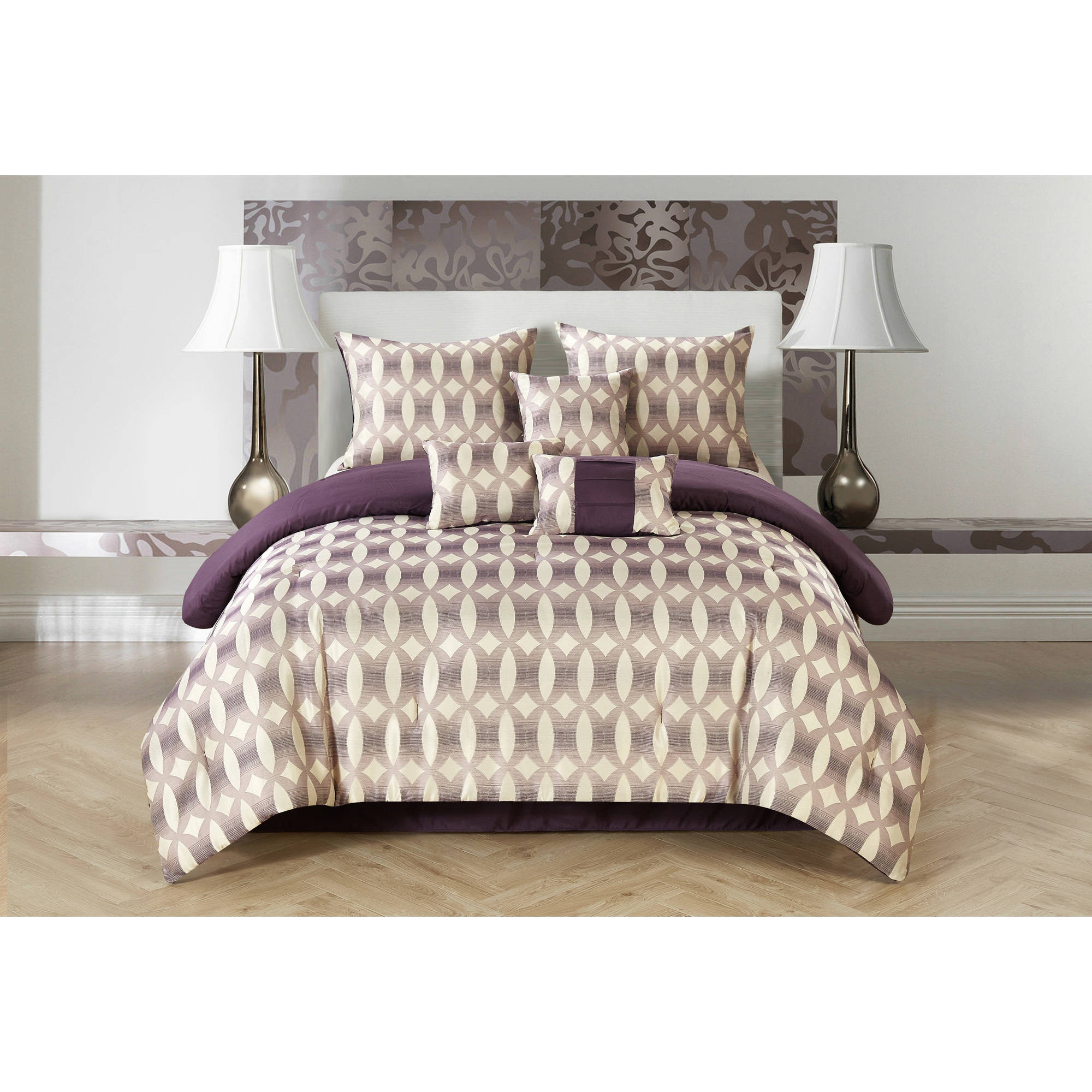 CASA Bentham Jacquard 7-Piece Bedding Comforter Set by Idea Nuova