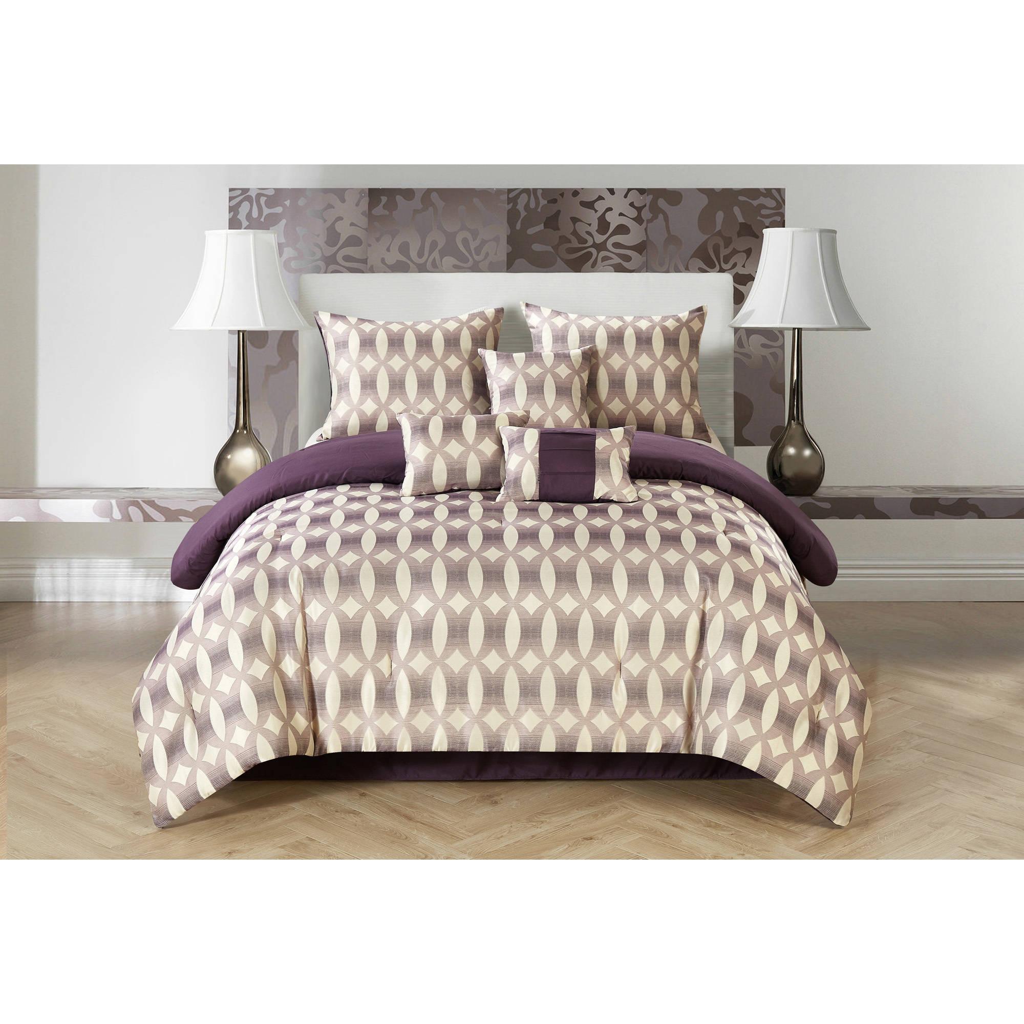 CASA Bentham Jacquard 7-Piece Bedding Comforter Set