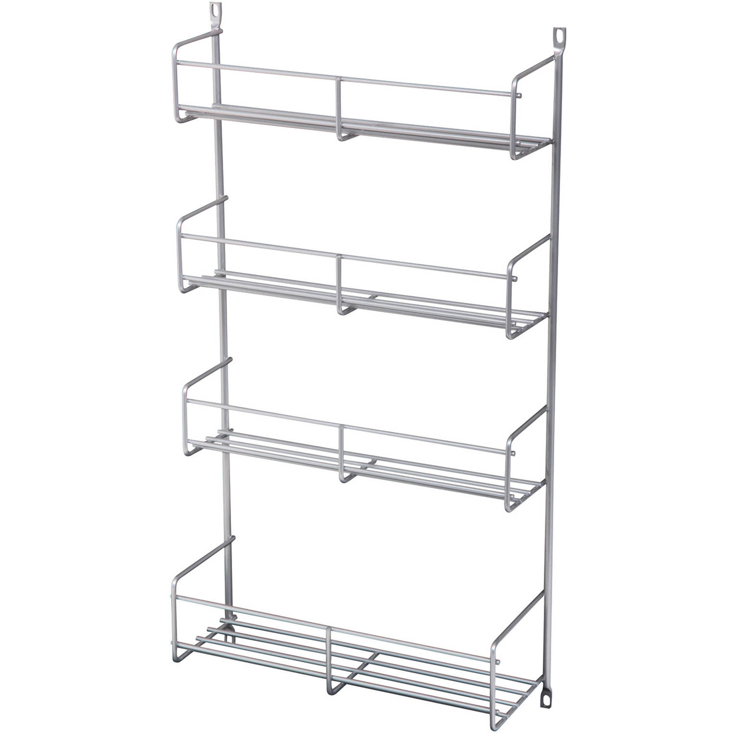 """Real Solutions 18"""" Frosted Nickel Door Mounted Spice Rack by"""
