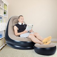 Deals on Kudosale Inflatable Lounge Chair with Ottoman