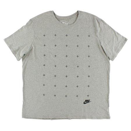 Nike Mens Matte Silicon Futura T Shirt Heather Grey