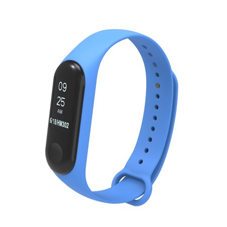 Replacement Wrist Strap for Xiao-Mi Band 3/4 General TPU Wristband (With reinforcement-ring) Green - image 2 de 5