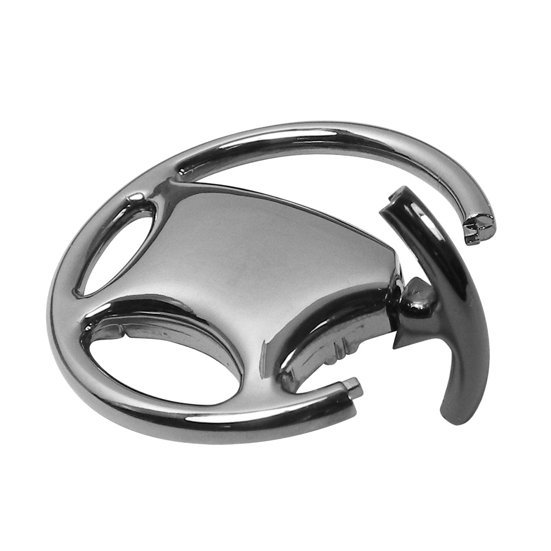 INC Au-Tomotive Gold Jeep Grille Black Chrome Steering Wheel Key Chain
