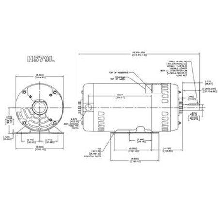 Carrier (HD60FK652) Electric Motor 5 HP 1725 RPM 208-230