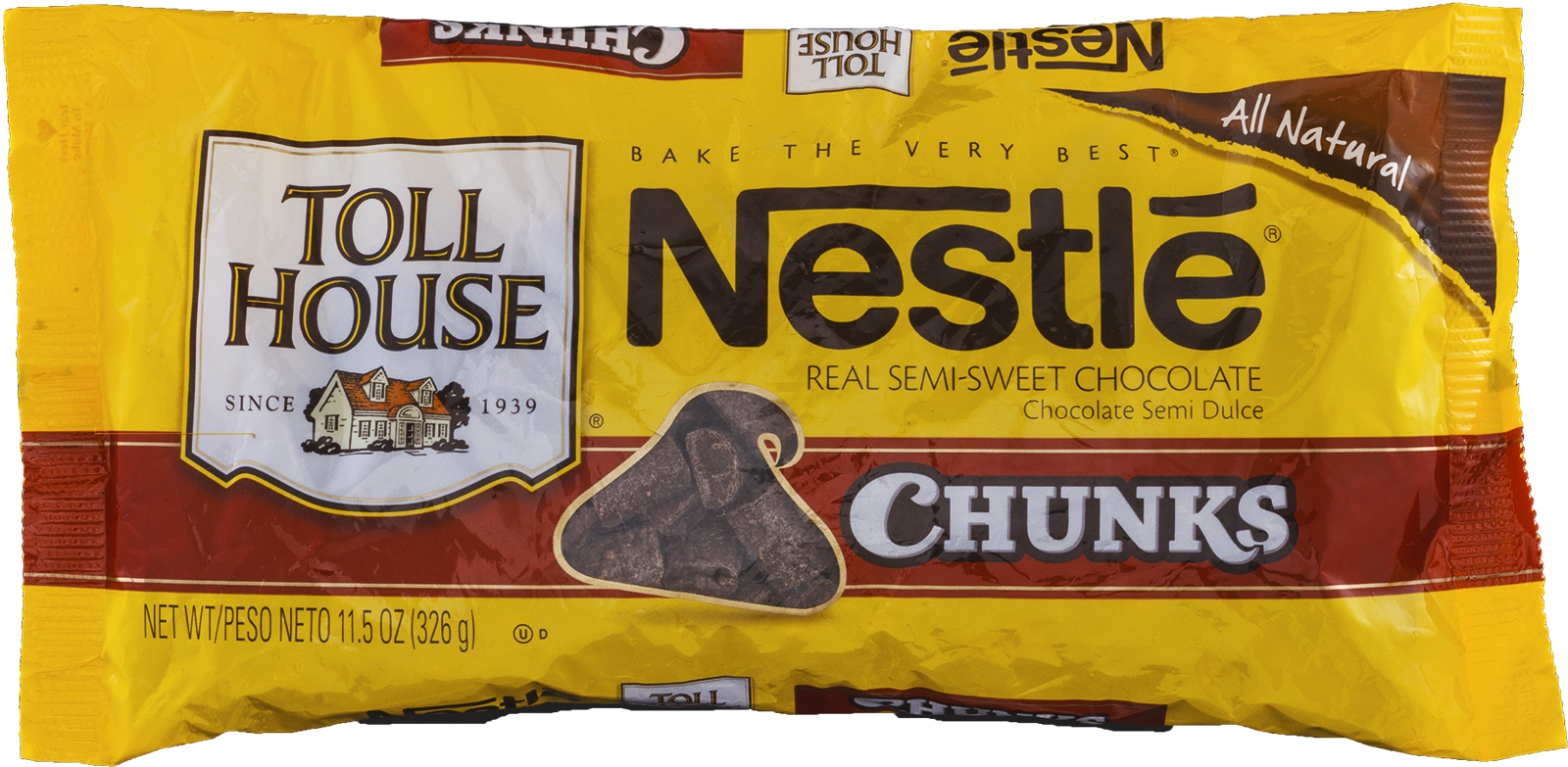 Nestle Toll House Semi-Sweet Chocolate Chunks 11.5 Oz. Bag ...