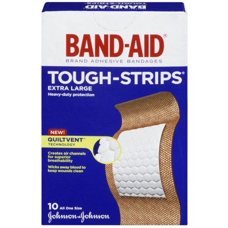 fc21f0e46acbb BAND-AID Tough-Strips Bandages, Extra Large 10 ea (Pack of 3)
