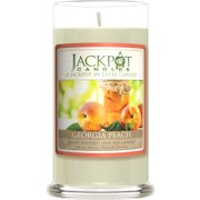 Georgia Peach Candle with Ring Inside (Surprise Jewelry Valued at $15 to $5,000) Ring Size 8