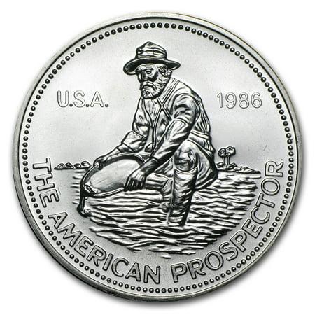 1986 Silver Eagle (1986 1 oz Silver Round - Engelhard Prospector (Eagle Reverse) )