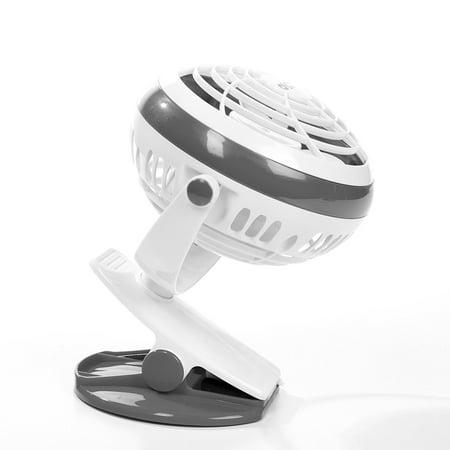 """Best Comfort Zone 4"""" USB Desk Clip Fan, Grey deal"""