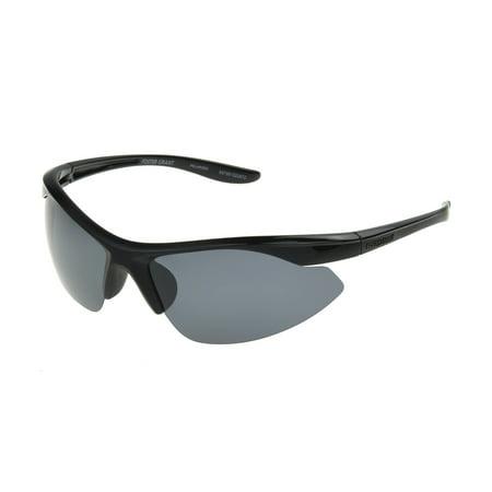35ec589e21 Foster Grant - Foster Grant Men s Black Polarized Blade Sunglasses LL06 -  Walmart.com