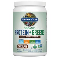 Garden of Life Organic Protein & Greens Powder, Chocolate, 20g Protein, 1.2lb, 19.6oz