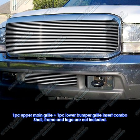 1999-2004 Ford F-250/F-350 Super Duty/Excursion Billet Grille Grill Combo Insert