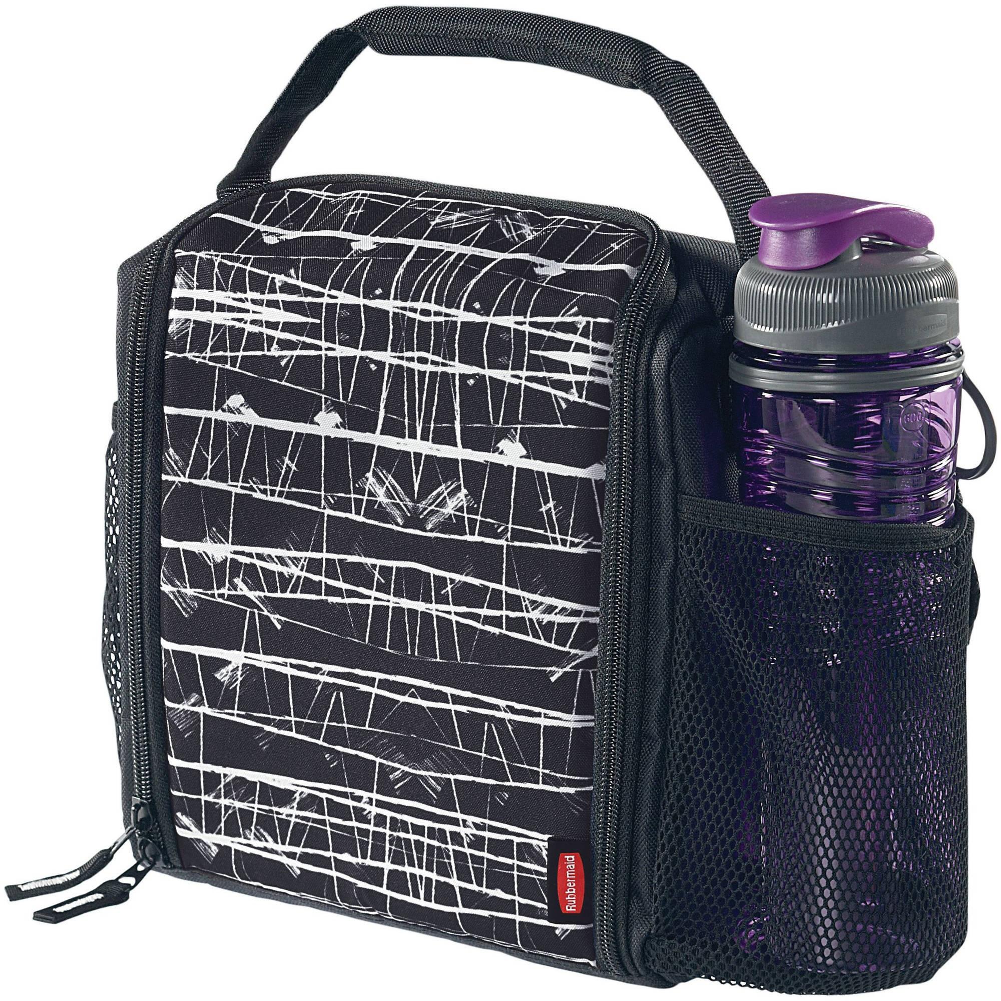 Rubbermaid LunchBlox Insulated Lunch Bag, Medium, Black Etch