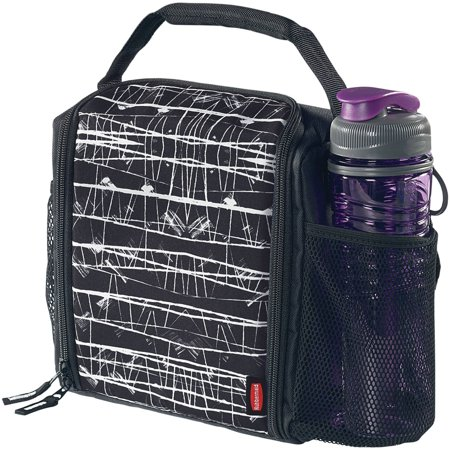 ab10e5713a8c49 Rubbermaid LunchBlox Insulated Lunch Bag, Medium, Black Etch - Walmart.com