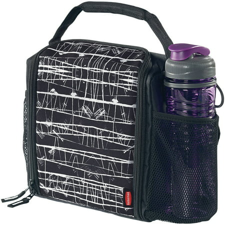 Rubbermaid LunchBlox Insulated Lunch Bag, Medium, Black Etch