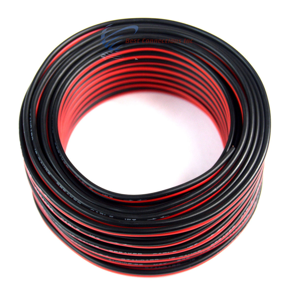 18 Gauge 50 Feet 2 Conductor Stranded Speaker Wire For Car or Home Audio 50ft