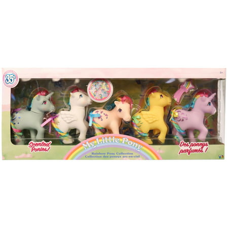 My Little Pony Classic - 35th Anniversary Rainbow Pony Gift Set - 5 Pack - My Little Pony Halloween Surprise Eggs