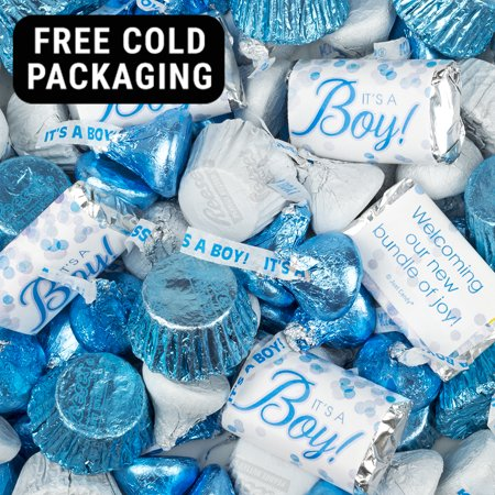 Long Boy Candy (It's a Boy Baby Shower Candy 5lb (Free Cold Packaging) - Hershey's)